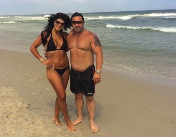Teresa and Joe Giudice on the Beach