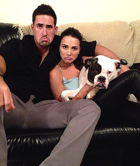 Andi Dorfman and Josh Murray Frown