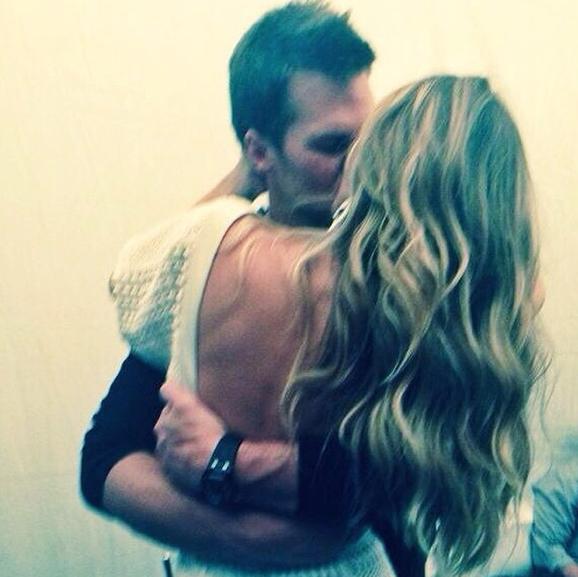 Gisele Bundchen and Tom Brady Kiss