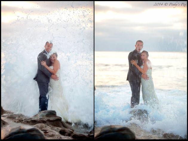 Wave Crashes Wedding