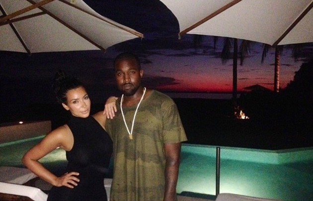 Kim Kardashian and Kanye West in Mexico