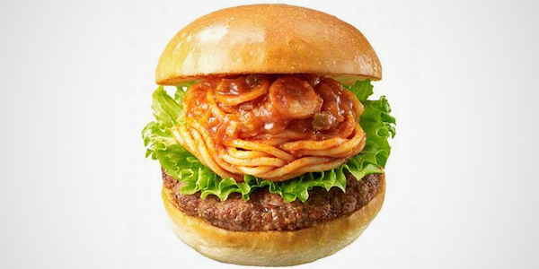 Spaghetti Burger Photo