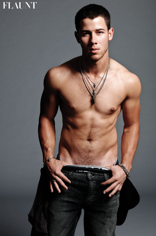 Nick Jonas Flaunts Nearly EVERYthing for Flaunt: See Singer's Happy ...: www.thehollywoodgossip.com/2014/10/nick-jonas-flaunts-nearly...