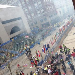 Boston Marathon Explosion Photo