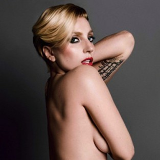 Lady Gaga Topless Photograph