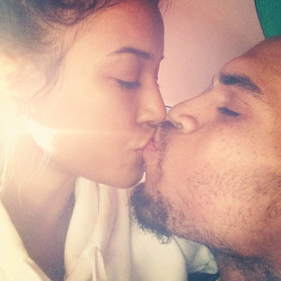 Karrueche Tran, Chris Brown Kiss