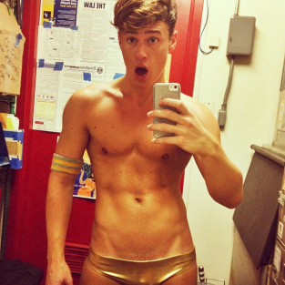 Blake McIver Backstage at a Show