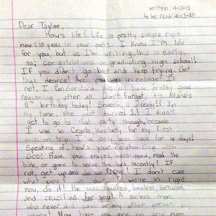 Taylor Smith Letter