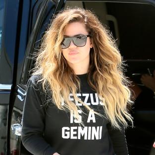 Khloe Kardashian in Yeezus Shirt