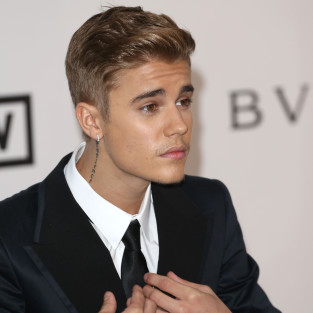 Justin Bieber in a Black Suit