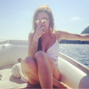 Lindsay Lohan Vacation Photo