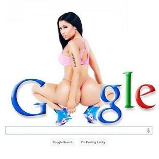Nicki Minaj as the Google Logo