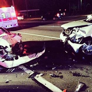 Dwayne Johnson Car Crash Pic