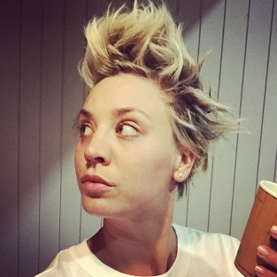 Kaley Cuoco: Spiky Hair