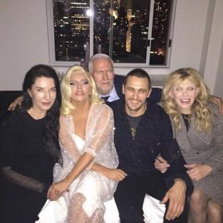 James Franco Courtney Love Lady Gaga Photo