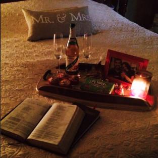 Jill Duggar's Bible and Apple Juice/Wine Bottle