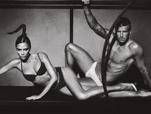 Victoria and David Beckham Underwear Pic