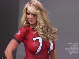 Kim Zolciak Body Paint Photo