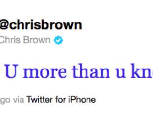 Chris Tweet @ Rihanna