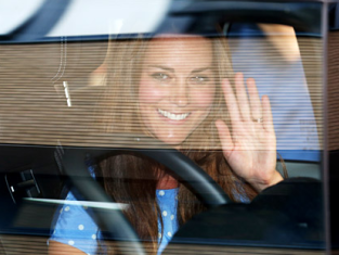 Kate Middleton Waves Goodbye