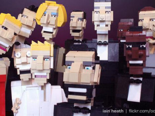 Oscars Selfie with LEGOs