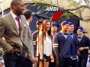 Andi Dorfman and Boyz 2 Men