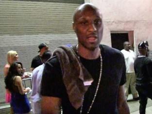 Lamar Odom Outside a Club