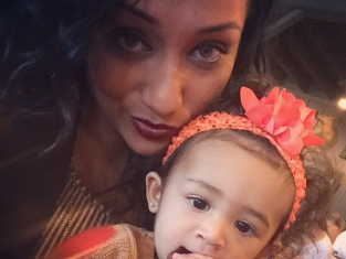 Nia, Chris Brown's Baby Photo