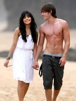 Shirtless Zac Efron and Vanessa Hudgens