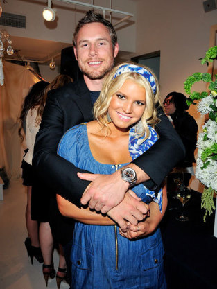 Eric Johnson and Jessica Simpson