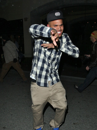 A Happy Chris Brown