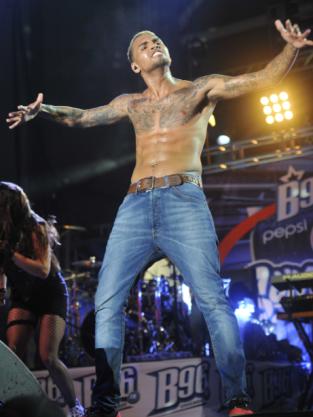 Chris Brown Topless