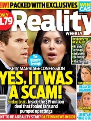 Kim Kardashian on Reality TV Weekly Magazine