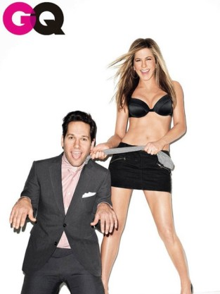 Jennifer Aniston and Paul Rudd GQ Cover