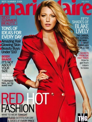 Blake Lively Marie Claire Magazine Cover