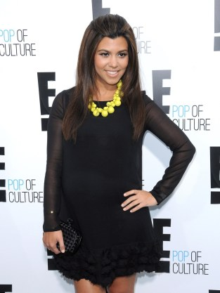 Kourtney Kardashian Red Carpet Pic