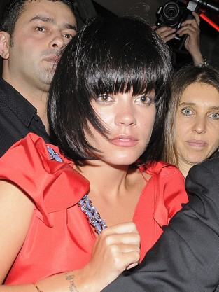 Lily Allen Bangs
