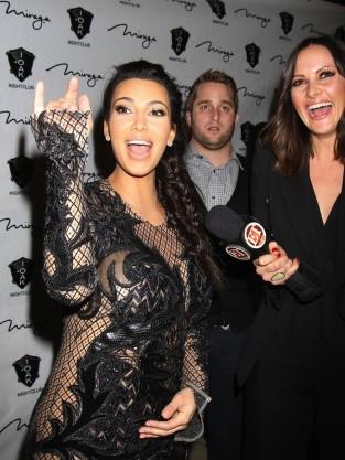 Kim Kardashian Pregnant Belly