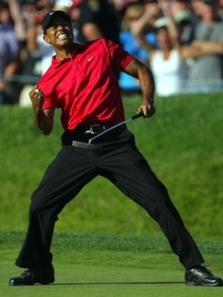 Tiger Woods Fist Pump
