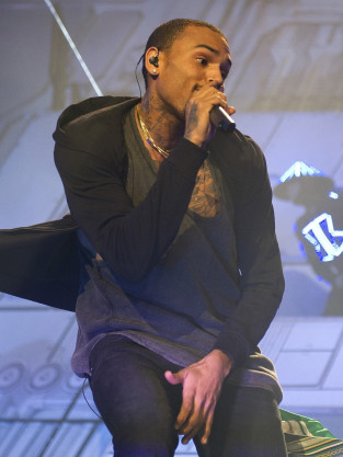Chris Brown Grabbing Crotch