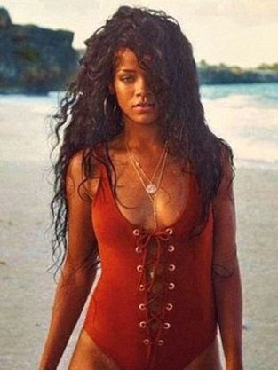 Rihanna Swimsuit Photo, Barbados Ad