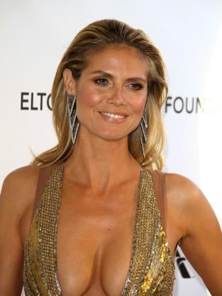 Heidi Klum Cleavage Dress