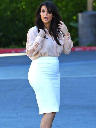 Kim Kardashian and Baby Bump