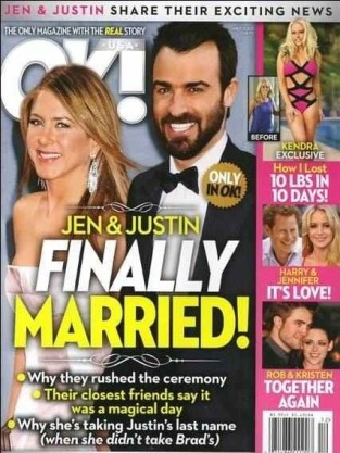 Jennifer Aniston OK! Magazine Cover