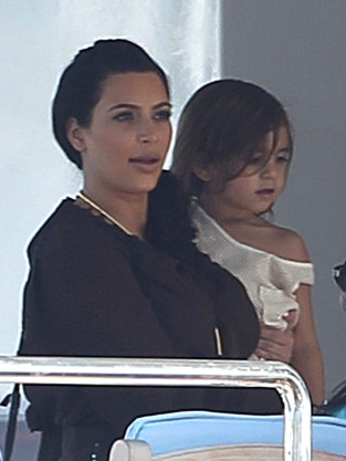 Kim Kardashian and Mason Dash