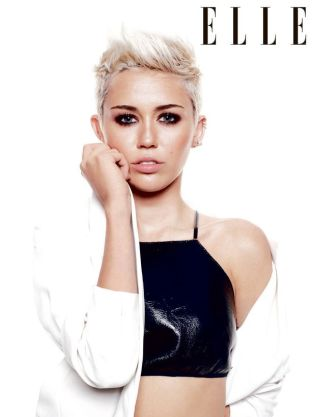 Miley Cyrus Elle Pose