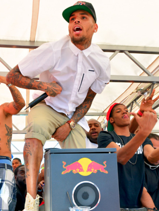 Chris Brown Crotch Grabbing