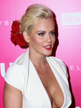 Jenny McCarthy Cleavage Dress