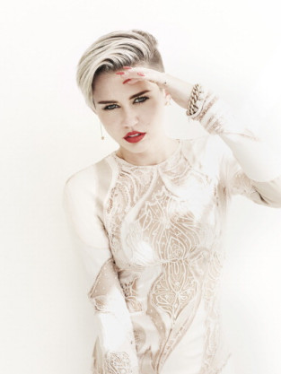 Miley Cyrus Poses for Fashion