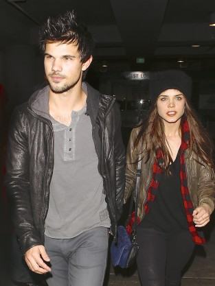 Taylor Lautner and Marie Avgeropoulos